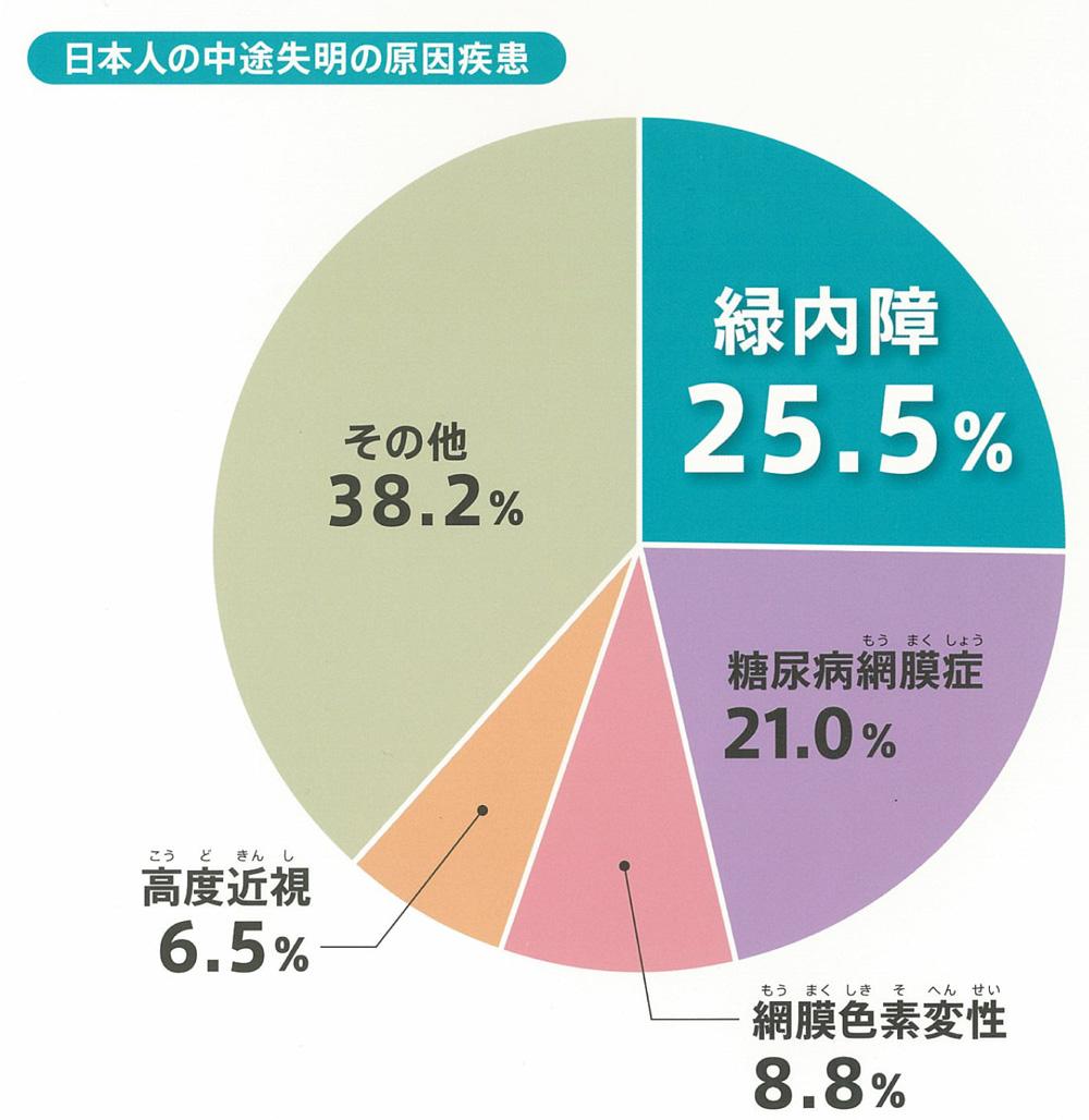 日本人の中途失明の原因疾患